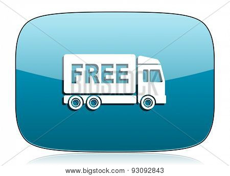 free delivery icon transport sign