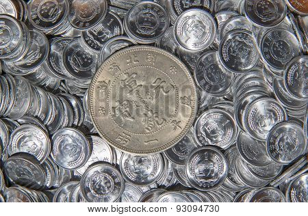 Huge pile of the China coins