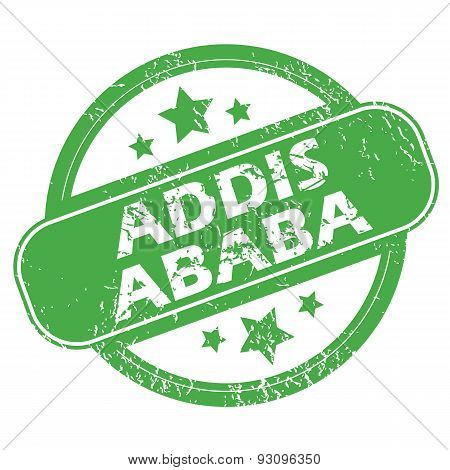 Addis Ababa green stamp