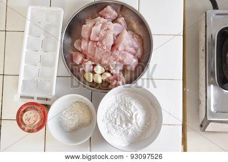 Ingredient to make fish ball