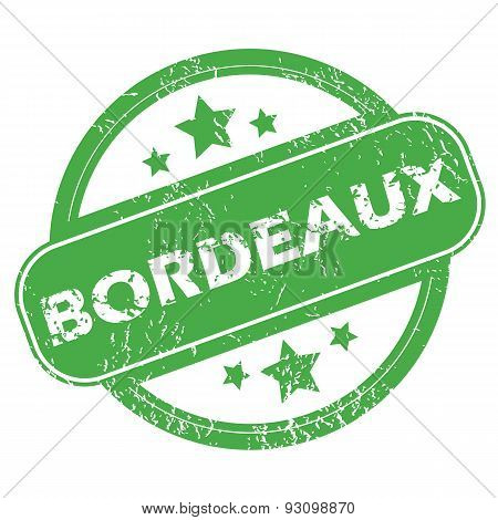 Bordeaux green stamp