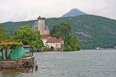 image of annecy  - Duingt castle on the shore of Lake Annecy - JPG