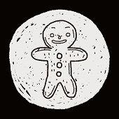 foto of ginger man  - Gingerbread Man Doodle - JPG