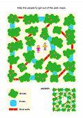 stock photo of maze  - Maze game for children - JPG
