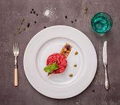 picture of tartar  - salmon tartar with beet - JPG