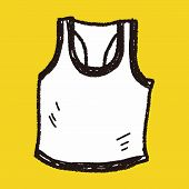 stock photo of vest  - Sport Vest Doodle - JPG
