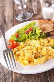 foto of scrambled eggs  - scrambled egg - JPG