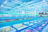 picture of supermarket  - Interior of supermarket - JPG
