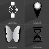 pic of wrist  - Wrist watch Checkpoint Butterfly Hourglass - JPG