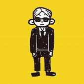 picture of bodyguard  - Bodyguard Doodle - JPG