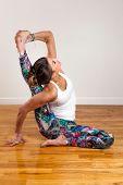 image of tantric  - Pretty Female Model doing Yoga Compass Pose - JPG