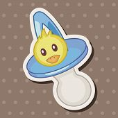 foto of pacifier  - Baby Pacifiers Theme Elements - JPG