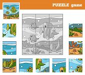 image of game-fish  - Puzzle Game for children with animals  - JPG