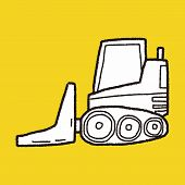 pic of heavy equipment operator  - Truck Doodle - JPG