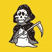 picture of grim-reaper  - Grim Reaper Doodle - JPG
