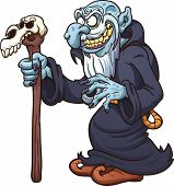 stock photo of wizard  - Evil cartoon wizard - JPG