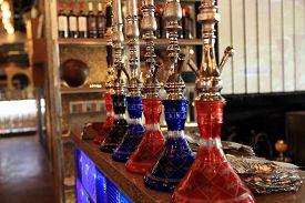 pic of shisha  - Details of shisha in the arabic cafe - JPG