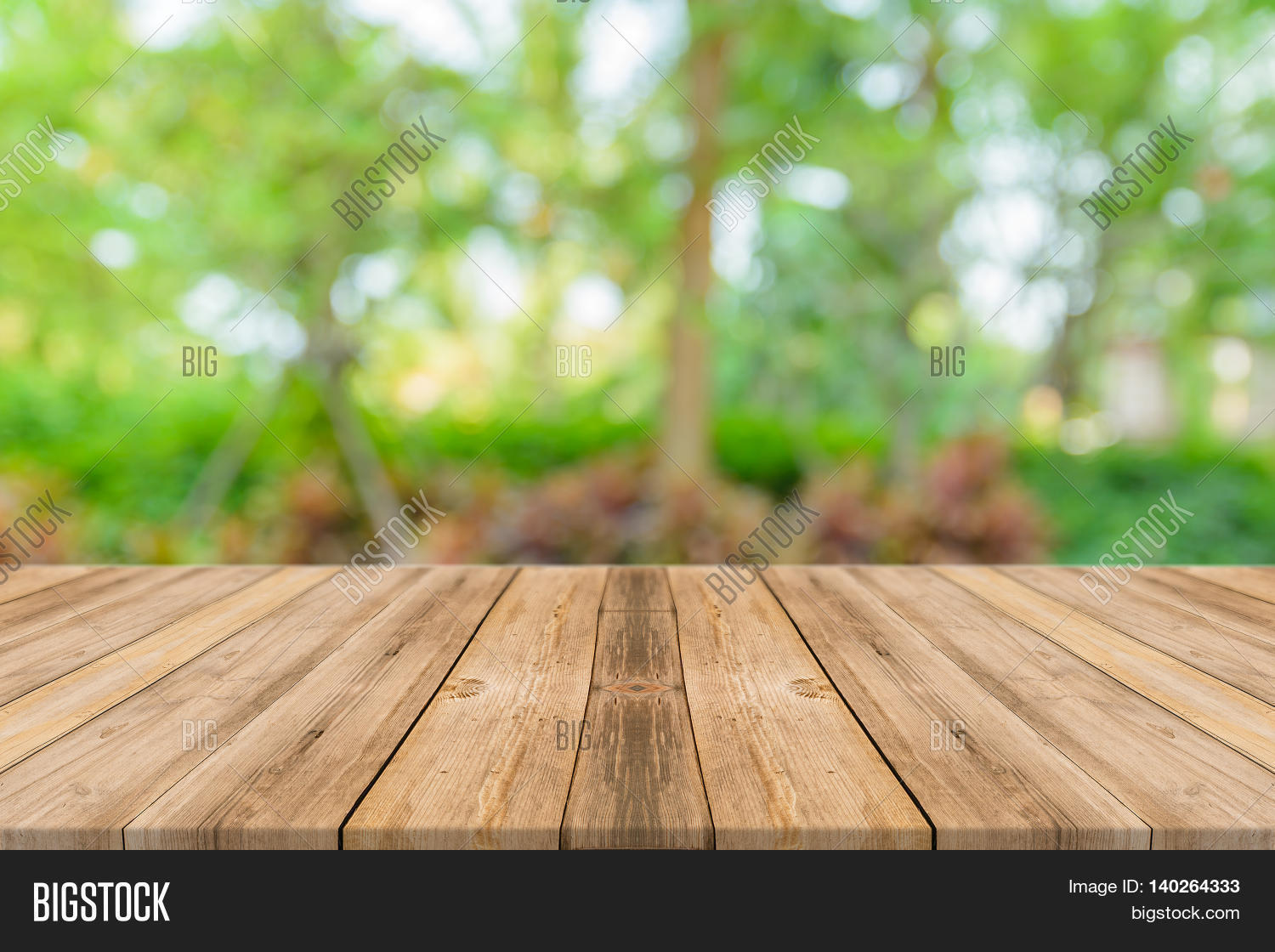 Wooden Board Empty Table Front Image & Photo | Bigstock