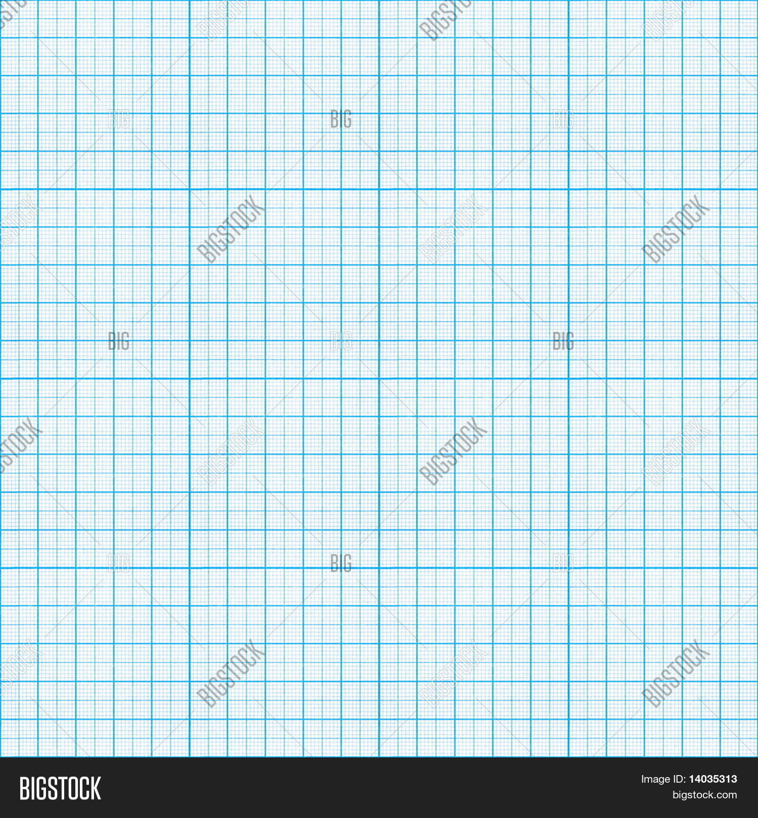 Seamless Blue Graph Paper Pattern Stock Photo Stock