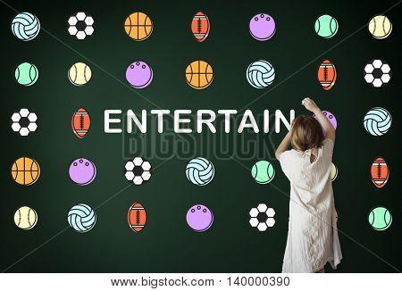 Kids Games Ball Sport Graphics Concept