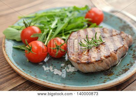 Grilled Steak With Rukkola