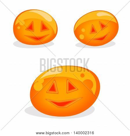 Set of pumpkins, vector illustration, icon, Vector design for app user interface