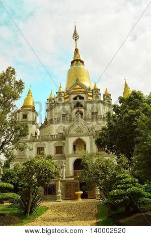 Buu Long temple in Ho Chi Minh city vietnam