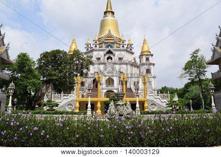 Buddhism Buu Long temple in Ho chi minh city, vietnam