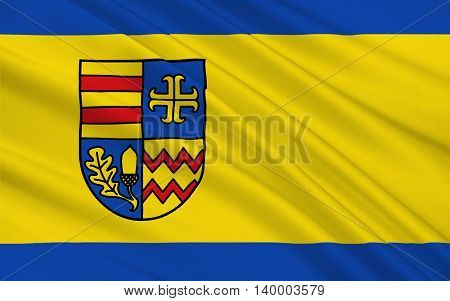 Flag of Ammerland is a district in Lower Saxony Germany. 3d illustration