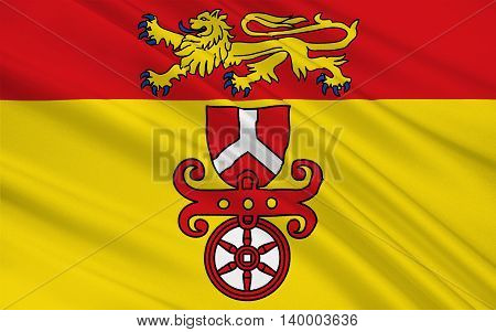Flag of Gottingen is a district in Lower Saxony Germany. 3d illustration