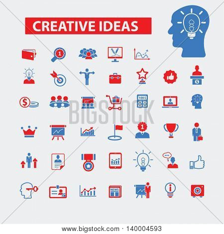 creative ideas icons