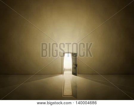 Doorway shines 3D Render