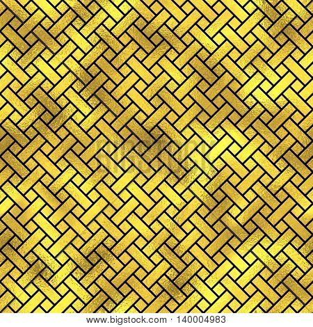 Seamless Pattern. Golden Vector Fashion Background