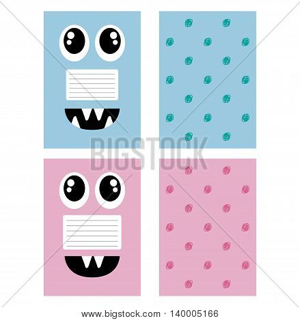 Sweet Page For Notebooks Face The Monster Diary. Funny Cover. Your Sprinkler, Blaknot, Card.