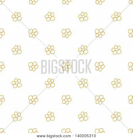 Flowers Seamless Pattern. Doodle Style. Hand Drawing. Delicate Texture For Your Design.