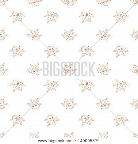 Autumn Leaf Seamless Pattern. Doodle Style. Hand Drawing. Delicate Texture For Your Design.