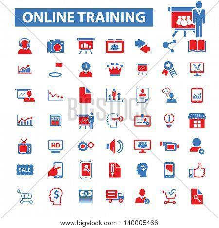 online training icons