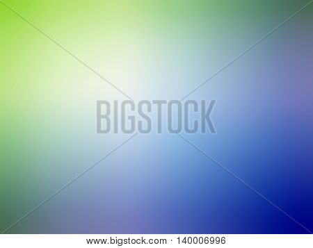 Abstract gradient green blue colored blurred background.