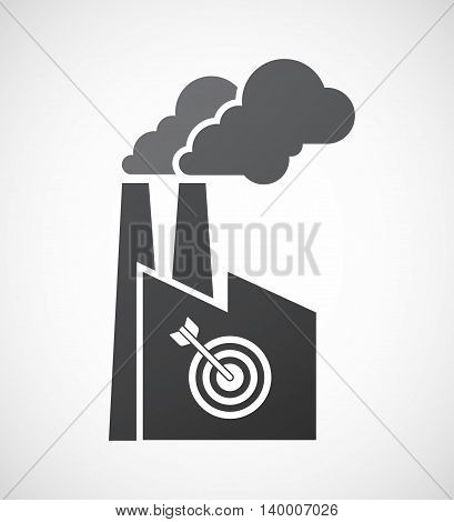 Isolated Factory Icon With A Dart Board