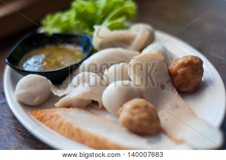 Balls Included With Seafood Sauce.