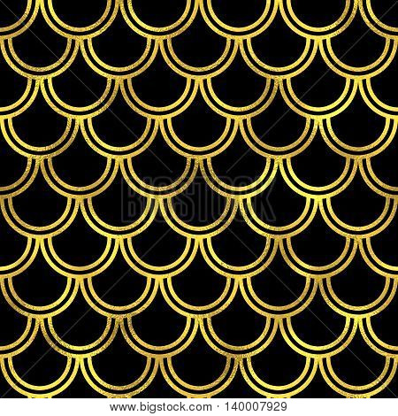 Abstract Golden Scaled Seamless Vector Pattern