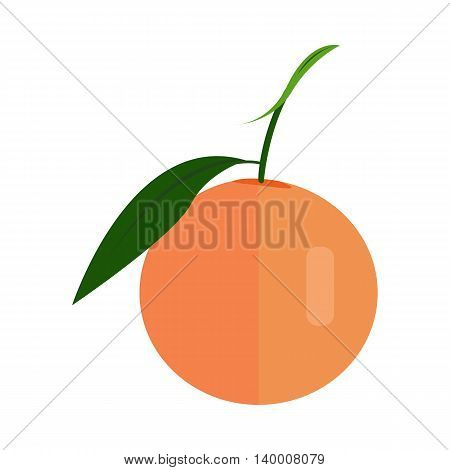 Orange vector in flat style design. Fruit illustration for conceptual banners, icons, mobile app pictogram, infographic, and logotype element. Isolated on white background.