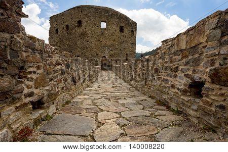 Velhartice - Castle stone bridge, a connecting stone bridge on the castle Velhartice
