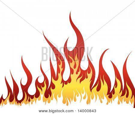 Inferno brand vector achtergrond voor ontwerp gebruik