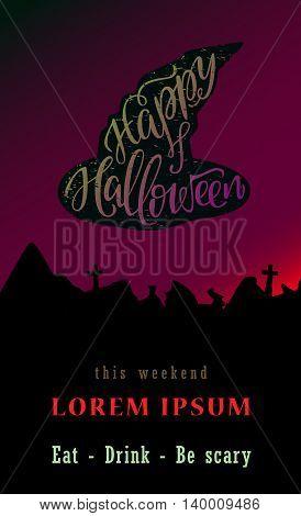 Happy Halloween Calligraphy. Halloween banner. Halloween lettering