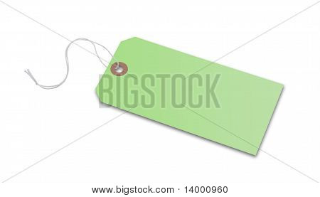 Price tag or address label in green