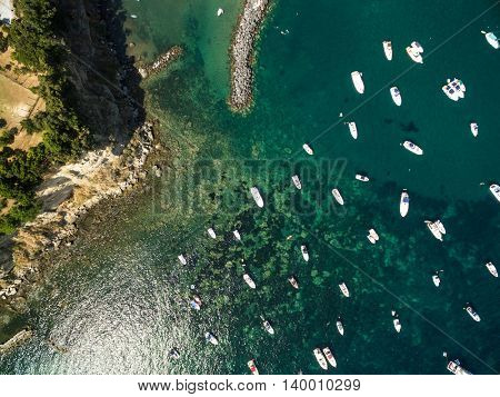 Top view of Boats