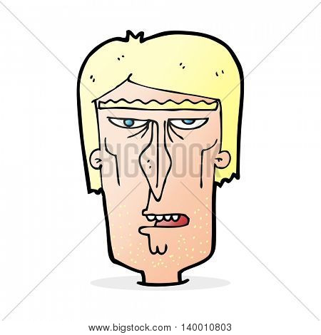 cartoon angry face
