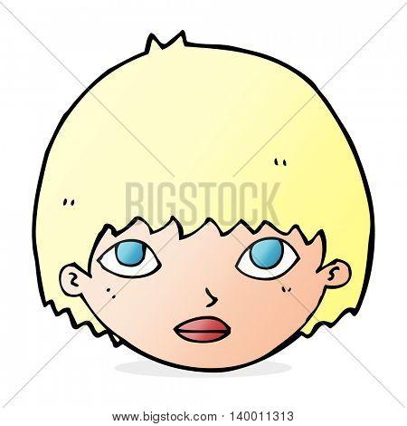 cartoon girl staring