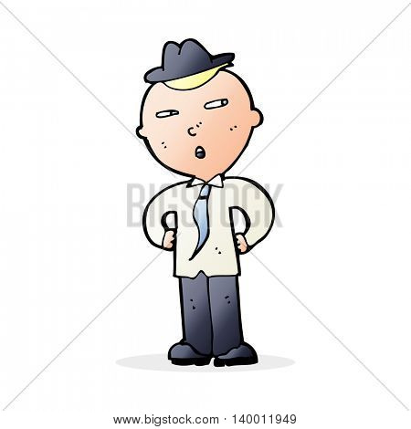 cartoon man wearing hat